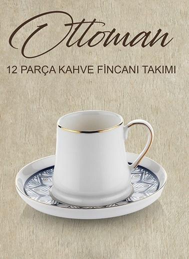 Schafer Ottoman Kahve Fincan Takımı - Lac02 - 63219 Lacivert